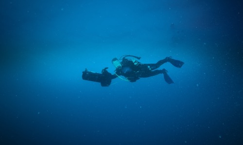 Diving in the wrecks of Micronesia